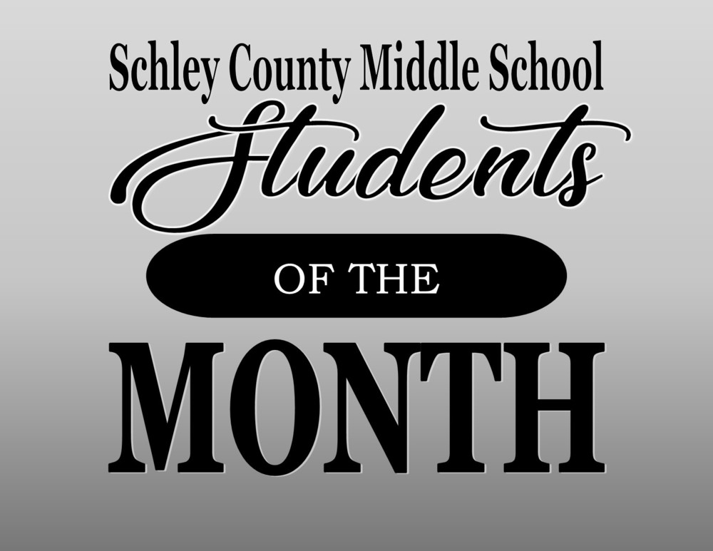 Middle School January  Students of the Month
