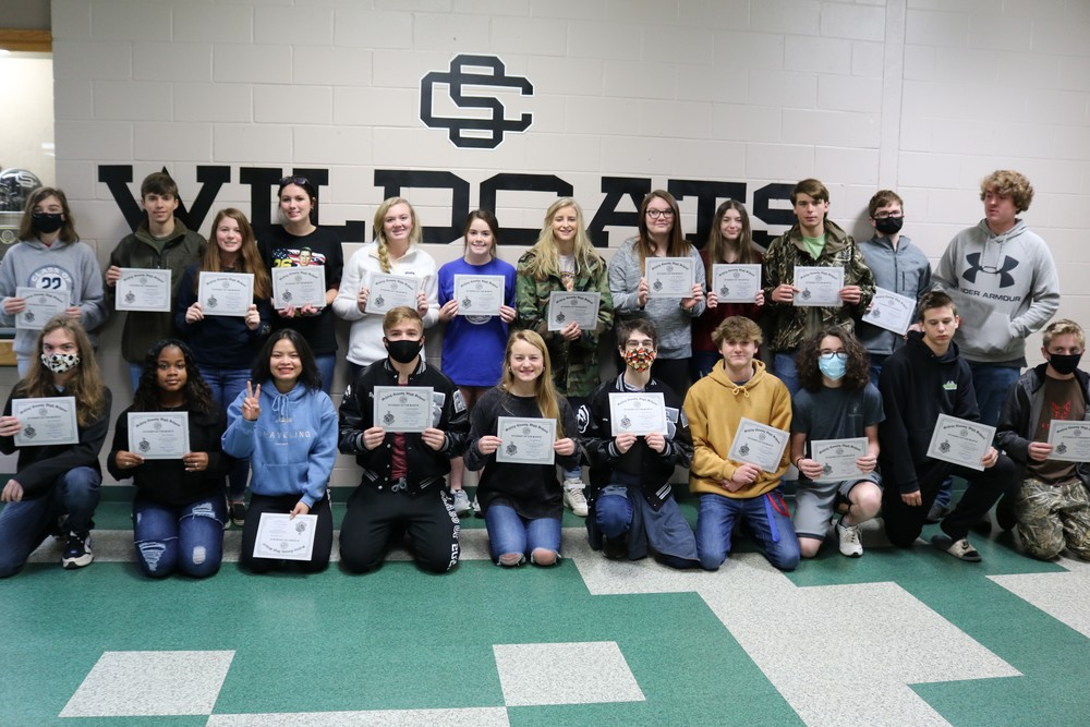 High School November/December Students of the Month