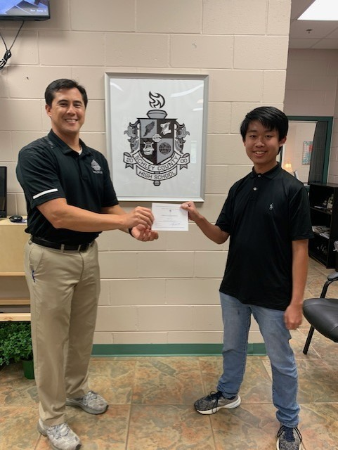 Jayson Lin Receives Letter of Commendation