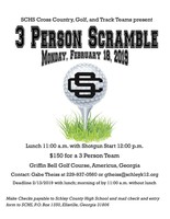 3 Person Scramble