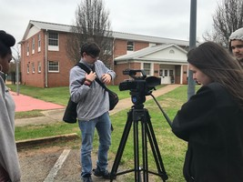AV Students Film at Andrew College