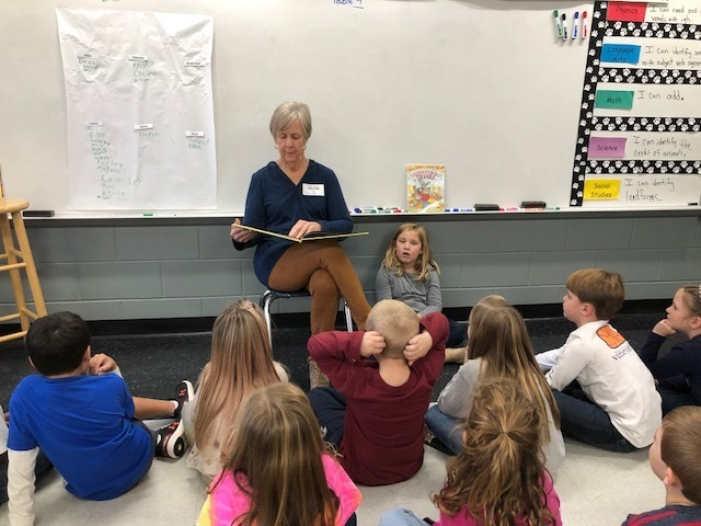 Guest reader for 1st grade