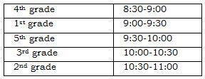 Honors Day Schedule