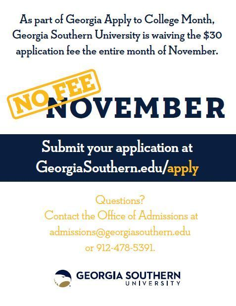No Fee November Georgia Southern